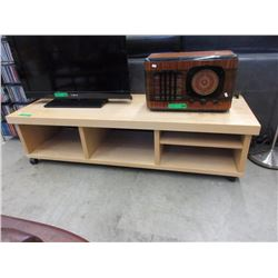 Wood TV Stand On Casters