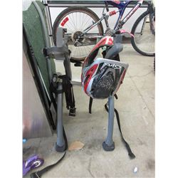 Bike Rack & Motor Cycle Helmet