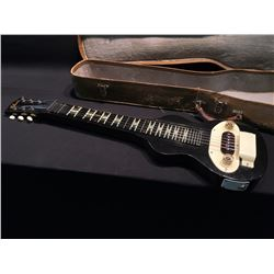 GIBSON LAP STEEL GUITAR, BLACK, COMES IN HARD CASE, C. 1950S