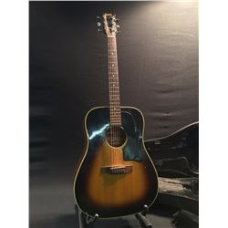 GIBSON J-45 DELUXE TOBACCO BURST ACOUSTIC/ELECTRIC GUITAR, WITH HARD SHELL ZIPPER CASE, SERIAL