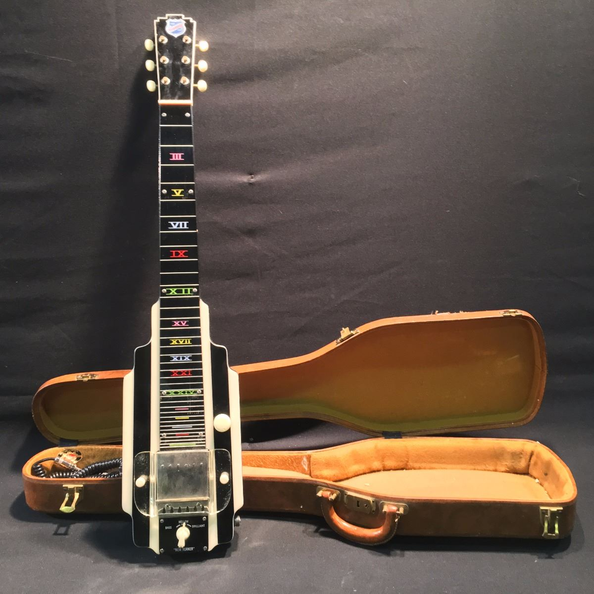 NATIONAL NEW YORKER ELECTRIC HAWAIIAN LAP STEEL GUITAR SERIAL NUMBER V35779 COMES WITH HARD