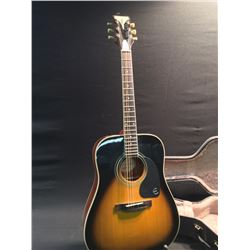 EPIPHONE PRO-1 PLUS VS ACOUSTIC GUITAR, WITH HARD SHELL CASE, SERIAL NUMBER 14071329807
