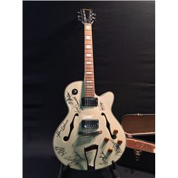 SPARROW ACOUSTIC/ELECTRIC GUITAR, WITH HUMBUCKER PICKUP, AND TRAPEZE TAILPIECE, FEATURES MANY