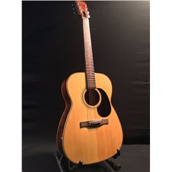 GIANNINI STEEL STRING ACOUSTIC GUITAR, MADE IN BRAZIL, COMES WITH PROFILE HARD SHELL CASE