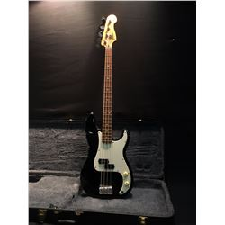 FENDER SQUIRE PRECISION ELECTRIC 4 STRING BASS GUITAR, SERIAL NUMBER MN411373, COMES WITH HARD CASE