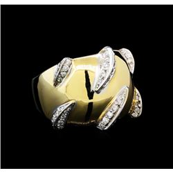 0.60 ctw Diamond Claw Design Ring - 14KT Yellow Gold