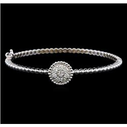 0.60 ctw Diamond Bracelet - 14KT White Gold