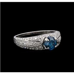 1.34 ctw Blue Diamond Ring - Platinum