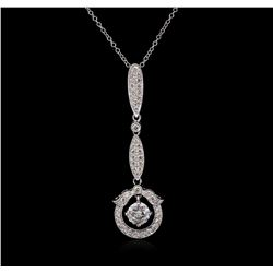 1.15 ctw Diamond Pendant With Chain - 14KT-18KT White Gold