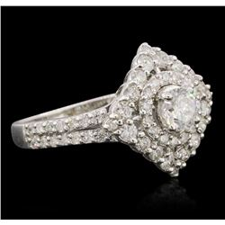 14KT White Gold 1.31 ctw Diamond Ring