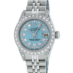Rolex Stainless Steel VVS Diamond DateJust Ladies Watch