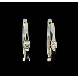 0.04 ctw Diamond Earrings - 14KT White Gold