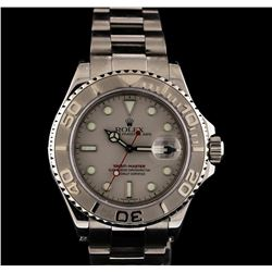 Rolex Stainless Steel and Platinum Yacht-Master Watch