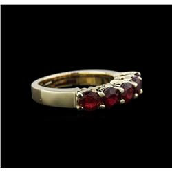 3.48 ctw Ruby Ring - 14KT Yellow Gold