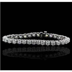 14KT White Gold 6.80 ctw Diamond Tennis  Bracelet
