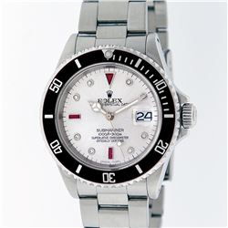 Rolex Stainless Steel Ruby and Diamond Submariner Men's Watch