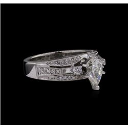GIA Cert 1.42 ctw Diamond Ring - 18KT White Gold