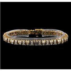 4.90 ctw Diamond Bracelet - 14KT Yellow Gold