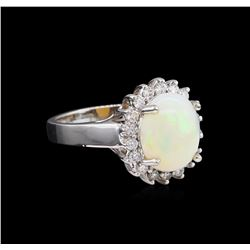 2.31 ctw Opal and Diamond Ring - 14KT White Gold
