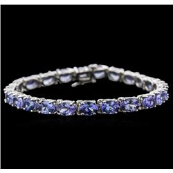 16.97 ctw Tanzanite Bracelet - 14KT White Gold