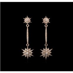 1.72 ctw Diamond Earrings - 14KT Rose Gold