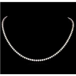 14KT White Gold 16.16 ctw Diamond Necklace