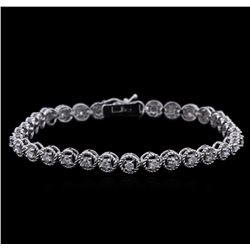 1.60 ctw Diamond Bracelet - 14KT White Gold