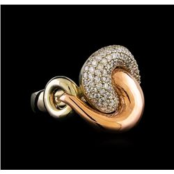 14KT Two-Tone Gold 0.39 ctw Diamond Ring