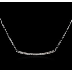 14KT White Gold 0.84 ctw Diamond Necklace