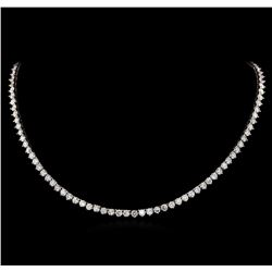 14KT White Gold 19.68 ctw Diamond Necklace