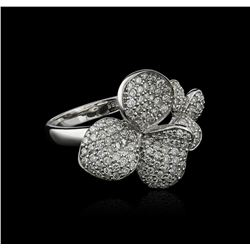 14KT White Gold 0.77 ctw Diamond Ring