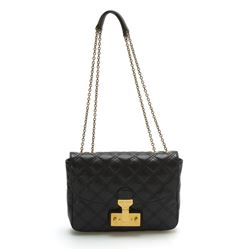 Marc Jacobs Mini Polly  Black Quilted Leather Shoulder Bag