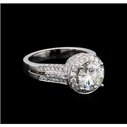 14KT White Gold 3.87 ctw Round Brilliant Cut Diamond Ring