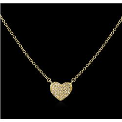 0.12 ctw Diamond Necklace - 14KT Yellow Gold