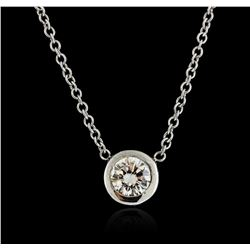 14KT White Gold 0.35 ctw Diamond Necklace