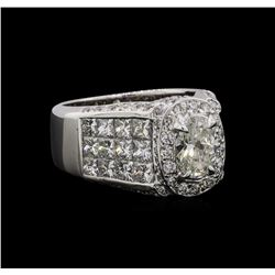 EGL Cert 4.62 ctw Diamond Ring - 18KT White Gold