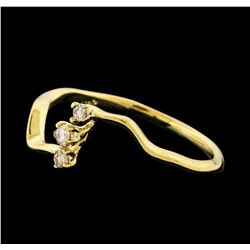 0.08 ctw Diamond Ring - 14KT Yellow Gold