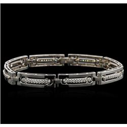 0.95 ctw Diamond Bracelet - 14KT White Gold