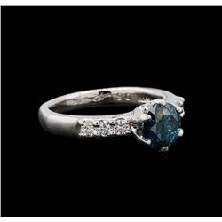 1.35 ctw Blue Diamond Ring - Platinum