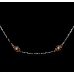 James Kurk 0.50 ctw Diamond Necklace - 14KT Two-Tone Gold