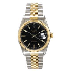 Preowned Rolex Datejust 16233 with Black Dial
