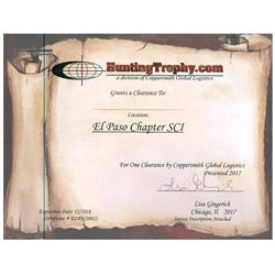 Trophy Clearance Certificates for 2 Hunters