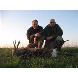 7 Days (3 full hunting) / 6 Nights Roe Deer Hunt for 2 Hunters or 1 Hunter & 1 Non-hunter in Serbia.