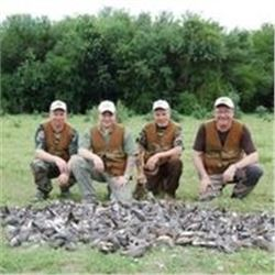 5 Days Wing Shooting Hunt in Argentina for 4 Hunters.
