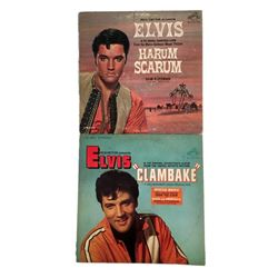 Elvis Presley Lot of Two 1960s Soundtrack Record Albums Clambake  and Harum Scarum