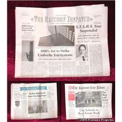 Resident Evil Apocalypse Newspaper Movie Props