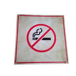 Resident Evil 6 Screen Used No Smoking Sign Movie Props