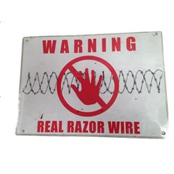Resident Evil 6 Warning Sign Movie Props
