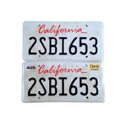 The Age of Adaline William Jones (Harrison Ford) License Plates Movie Props
