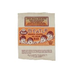 Beatles Original 1965 Hood Dairy Ice Cream Bar Wrapper
